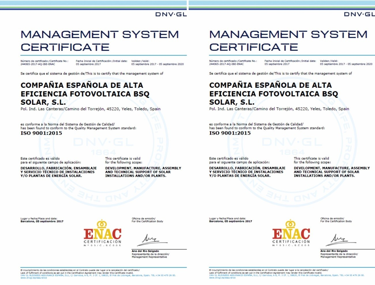 Bsq Obtains Iso 9001 And Iso 14001 Certification Rephlect